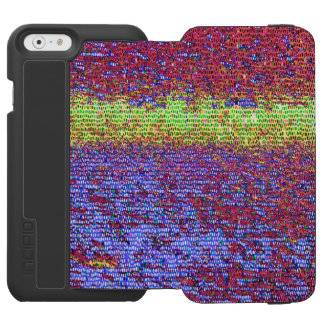 Muster des lila und gelben Mosaiks Incipio Watson™ iPhone 6 Geldbörsen Hülle