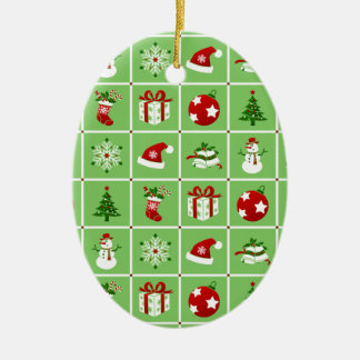 Muster des neuen Jahres. Farbbilder. 2018. Keramik Ornament