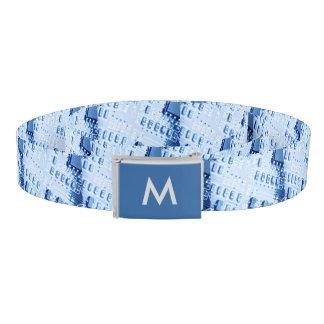 Muster geschaffen mit einem blauen gürtel