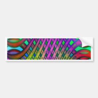 Muster-mehrfarbige Nr. 21 Autoaufkleber