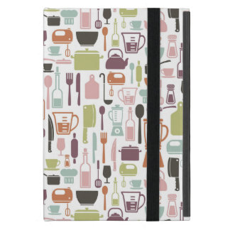 Muster mit bunten kochenden Ikonen iPad Mini Etui
