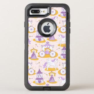Muster mit einer Prinzessin OtterBox Defender iPhone 8 Plus/7 Plus Hülle