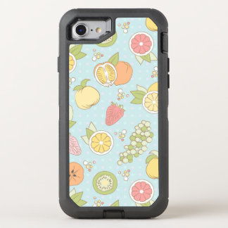 Muster mit Früchten und Beeren OtterBox Defender iPhone 8/7 Hülle