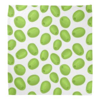 Muster mit grünen Oliven Halstuch