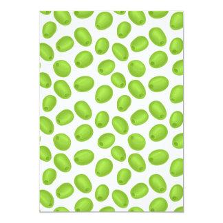 Muster mit grünen Oliven Karte