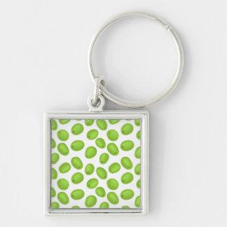Muster mit grünen Oliven Schlüsselanhänger