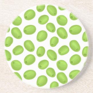 Muster mit grünen Oliven Untersetzer