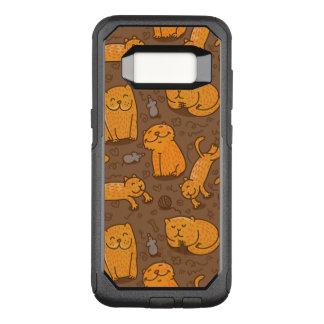 Muster mit Katzen OtterBox Commuter Samsung Galaxy S8 Hülle