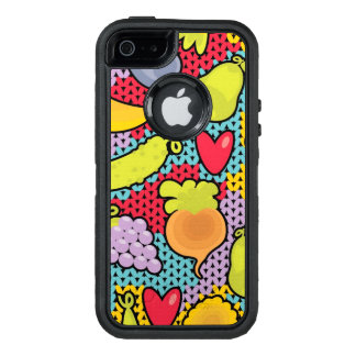 Muster mit Obst und Gemüse OtterBox iPhone 5/5s/SE Hülle