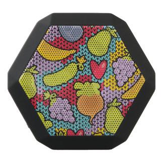 Muster mit Obst und Gemüse Schwarze Bluetooth Lautsprecher