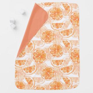 Muster mit orange Scheibe Kinderwagendecke