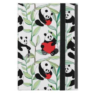 Muster mit reizenden Pandas mit Herzen iPad Mini Schutzhülle