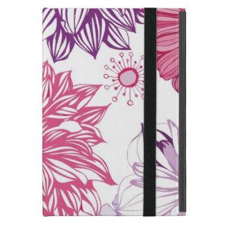 Muster mit rosa Astern und Dahlie Etui Fürs iPad Mini