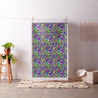 Muster mit stylized Blumen oder Lichtern von Stoff