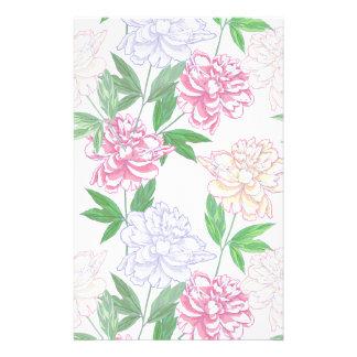 Muster mit weißen rosa Pfingstrosen Individuelle Druckpapiere
