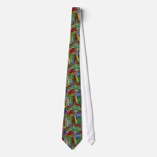 Muster pattern Büroklammern paper clips Krawatte