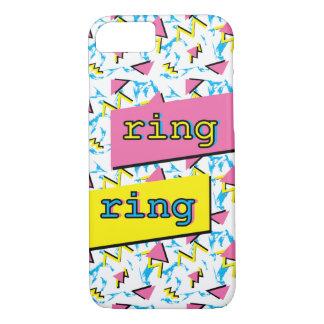 "Muster""Ringring"" Spaß-Memphis Retro Telefon-Kasten iPhone 8/7 Hülle"