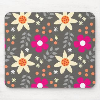 Muster-rosa Mit Blumengrau Mauspad