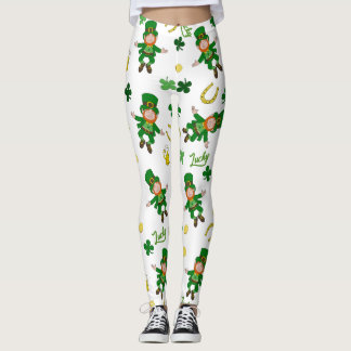Muster St. Patricks Tages Leggings