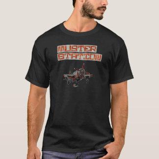 Muster-Station-Ziviles Missachtungs-Flugzeug T-Shirt