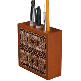 Muster-Südwestentwurf Browns aztekischer Stammes- Stifthalter