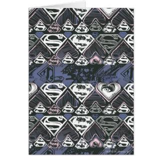 Muster Supergirl Wiederholungs-S Karte