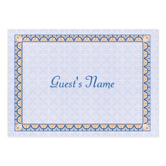 Muster u. Abendessen-Platzkarte der Grenze2 Mini-Visitenkarten