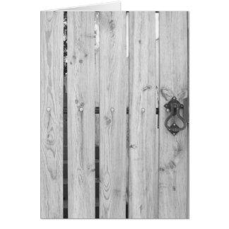 Muster-u. Beschaffenheits-Gruß-Karten - Holztür Grußkarte