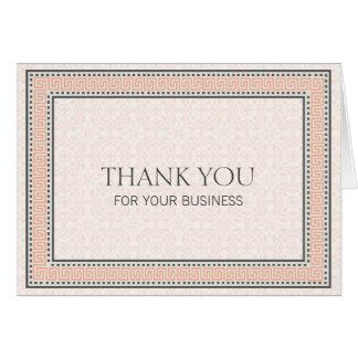 Muster u. Grenzen 1 danken Ihnen für Ihr Geschäft Karte