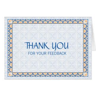 Muster u. Grenzen 2 danken Ihnen für Ihr Feed-back Karte