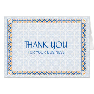 Muster u. Grenzen 2 danken Ihnen für Ihr Geschäft Karte