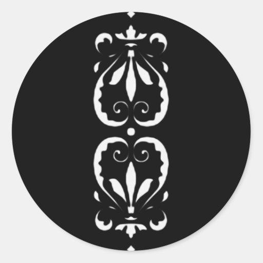 Muster victorian schwarz black barock klassisch aufkleber