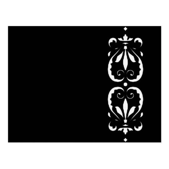 Muster victorian schwarz black barock klassisch postkarte