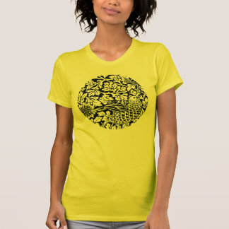 MUSTER-Vogel-Blumen Williams Morris Blumen T-Shirt