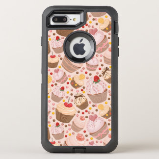 Muster von den feierlichen kleinen Kuchen OtterBox Defender iPhone 8 Plus/7 Plus Hülle