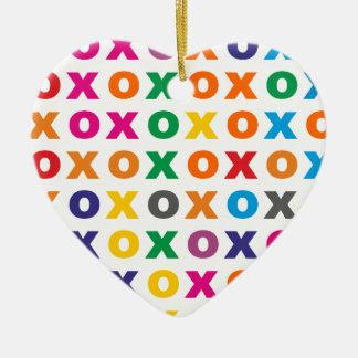Muster XOXO pattern hugs kisses Keramik Ornament