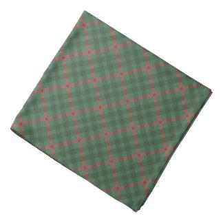 Mustergrün u. -ROT des schottischen Tartanbüffels Kopftuch