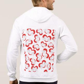 Musterillustrations-Friedenstauben mit Herzen Hoodie