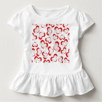 Musterillustrations-Friedenstauben mit Herzen Kleinkind T-shirt