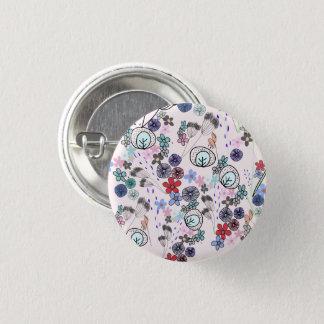 Musterknopf der Frühlings-Blumen Runder Button 3,2 Cm
