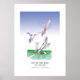 mustern Sie auf dem Ball, tony fernandes Plakat