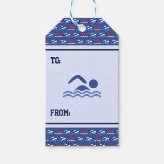 Mustersport des blauen Rotes der Schwimmer Geschenkanhänger