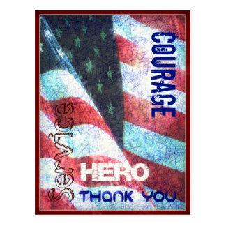 Mut-Held-Danken Sie Ihnen Veteranen-Tagespostkarte Postkarte