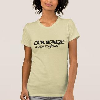 Mut tut es ängstlich - Elfenbein-Damen-T-Stück T-Shirt