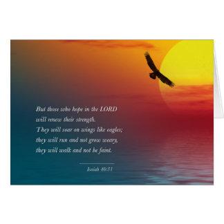 Mut-Vers Bibel Jesaja-40:31 Eagles hochfliegende Karte