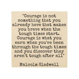 Mut wird erworben holzwanddeko
