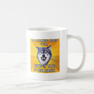 Mut-Wolf gegen Zombies Kaffeetasse