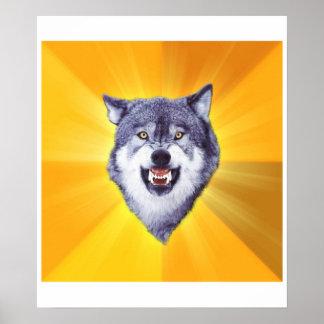 Mut-Wolf Posterdruck