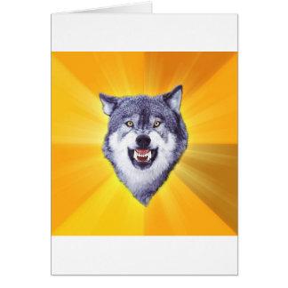 Mut-Wolf-Ratetierinternet Meme Grußkarte