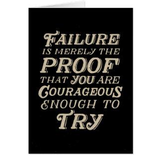 Mut zu versagen grußkarte